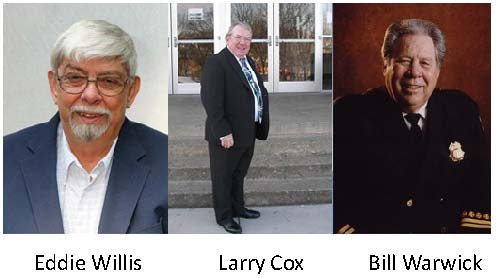 Eddie Willis, Larry Cox and Bill Warwick